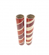 "2.5"" id -  12"" long  - .115"" wall Kraft Tube Maroon, White and Red"