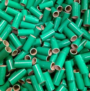 "50 pc 3/4"" id - 2 1/8"" Long Green Kraft Tube"
