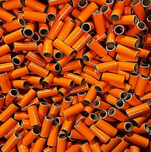 "50 pc 3/4"" id - 2 1/8"" Long Orange Kraft Tube"