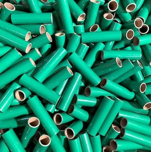 "25 pc 3/4"" id - 3 1/2"" Long Green Kraft Tube"