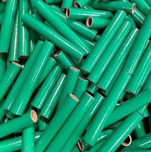 "25 pc 3/4"" id -6"" Long Green Kraft Tube"