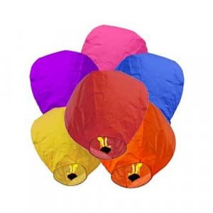 36pc Mixed Color Sky Lanterns