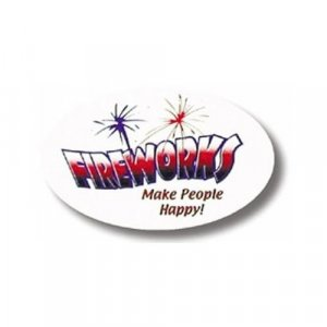 Fireworks Make People Happy Sticker