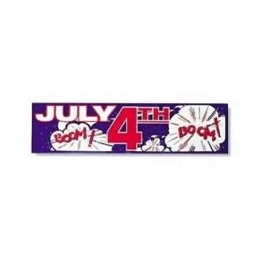 July 4th - Boom Bumber Sticker (vinyl)