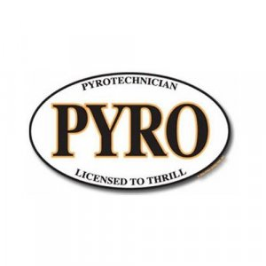 Pyro Oval Sticker (vinyl)
