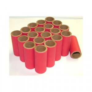 "50pc 9/16"" id - 1 1/2"" long - 1/16"" wall Red Kraft Tube"