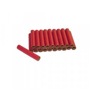 "50pc 1/4"" id - 2"" long Red Kraft Super Tube"