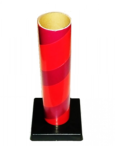 "2.5"" id -  12"" long  - .115"" wall Kraft Tube Red with Plastic Base"