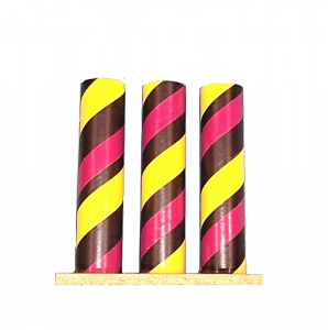 3 Musketeer Tube Black, Yellow and Maroon
