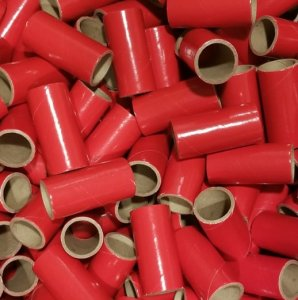 "50pc 1"" id - 2 1/2"" long - 1/8"" wall Red Tube"