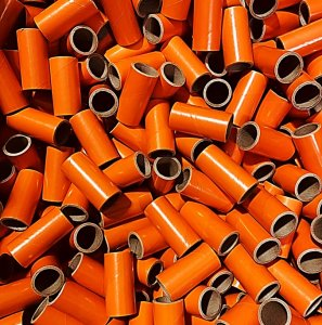 "500 pc 1"" id -2 1/2"" Long Orange Kraft Tube"