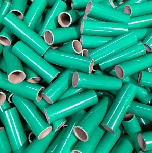 "25 pc 1"" id -4"" Long Green Kraft Tube"