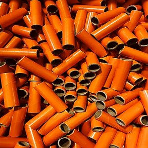 "25 pc 1"" id -4"" Long Orange Kraft Tube"
