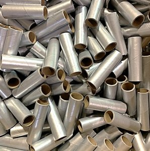 "25 pc 1"" id -4"" Long Silver Kraft Tube"