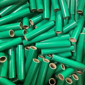 "100 pc 1"" id -6"" Long Green Kraft Tube"