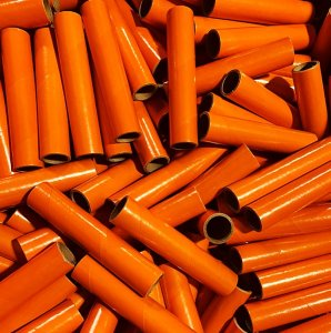 "100 pc 1"" id -6"" Long Orange Kraft Tube"