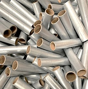 "25 pc 1"" id -6"" Long Silver Kraft Tube"