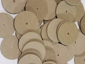 "50pc 1.5"" Paper Disc w/Hole"