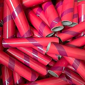 "10pc 1.50"" ID x 7"" Red and Maroon Kraft Tube"