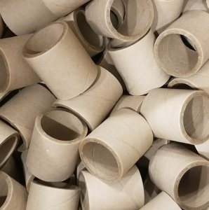 "10pc 2.26"" id - 3"" long - 1/4"" wall Heavy Kraft Paper Tube"