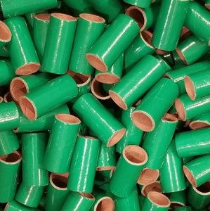 "50pc 1"" id - 2 1/2"" long - 1/8"" wall Green Tube"