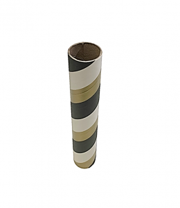 "2.5"" id -  12"" long  - .115"" wall Kraft Tube Black Gold and White"
