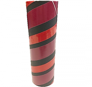 "2.5"" id -  12"" long  - .115"" wall Kraft Tube Black, Red and Maroon"