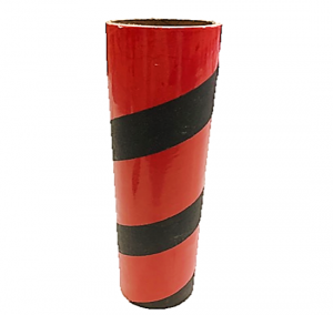 "2.5"" id -  12"" long  - .115"" wall Kraft Tube Red and Black"