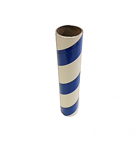"2.5"" id -  12"" long  - .115"" wall Kraft Tube Blue and White"