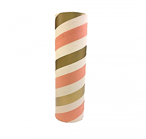"2.5"" id -  12"" long  - .115"" wall Kraft Tube Pink, White and Gold"