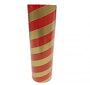 "2.5"" id -  12"" long  - .115"" wall Kraft Tube Red and Gold"