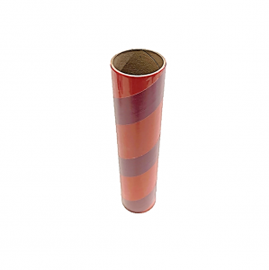 "2.5"" id -  12"" long  - .115"" wall Kraft Tube Red and Maroon Stripe"