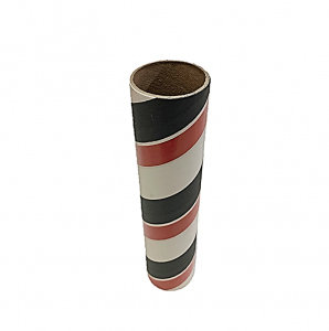 "2.5"" id -  12"" long  - .115"" wall Kraft Tube White, Black and Red"