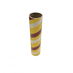 "2.5"" id -  12"" long  - .115"" wall Kraft Tube White, Yellow and Maroon"