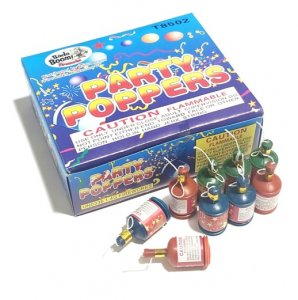72pc Champagne Party Poppers in Display Box
