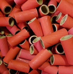 "1,500pc 9/16"" id - 1 1/2"" long - 0.05"" wall Red Kraft Tube"