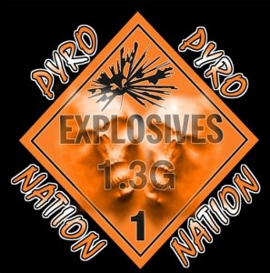 Pyro Nation 1.3G Sticker