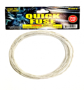 20ft Gray Quick Fuse - 0.5s per foot