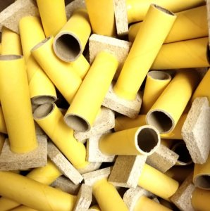 "Single Shot 3/4"" ID Yellow Tube w/Base - set of 10"