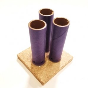 "Triple Shot 3/4"" ID Blue Tube w/Base - set of 5"