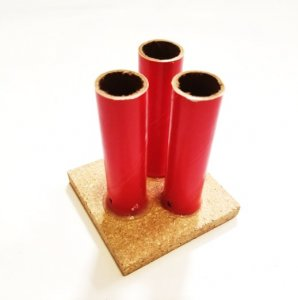 "Triple Shot 3/4"" ID Red Tube w/Base - set of 5"