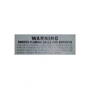 Warning Label - Pack of 5