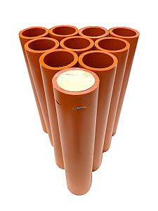 "1.91"" x 11.5"" Orange HDPE DR11 Mortar Tube"