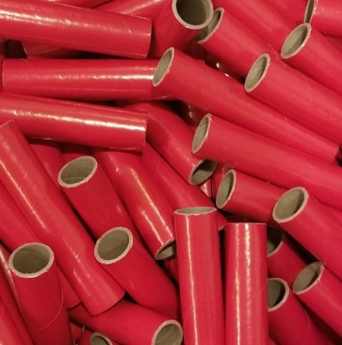 "25pc 1"" id - 6"" long - 1/8"" wall Red Spiral Tube"