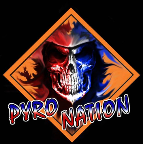 Pyro Nation Logo Sticker - Small