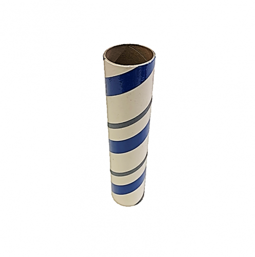 "2.5"" id -  12"" long  - .115"" wall Kraft Tube Blue, White and Gray"