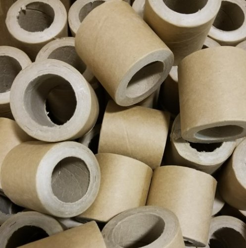 "10pc 1 5/8"" id - 2.5"" long - 7/16"" wall Heavy Kraft Paper Tube"